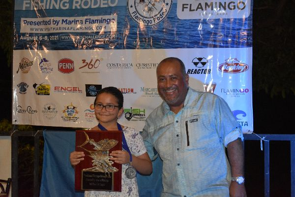 CATALINA SUAREZ 2ND JUNIOR GIRL AND MOST ROOSTERFISH